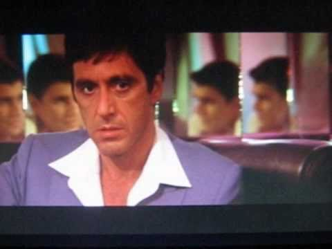 Al Pacino in SCARFACE,...