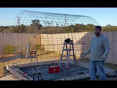Day/video 1 of diy greenhouse built with cattle panels and welding