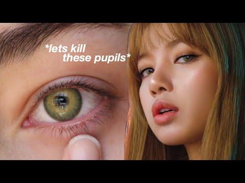 Trying On Kpop Idol Eye Contact Lenses Youtube