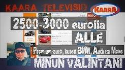 2500-3000 eurolla premium-auto alle - Minkä ottaisin?