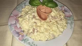 Nudel mit Salami Rezept/Makarone sa salamom recept/Noodle with salami recipe