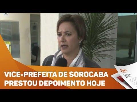 Vice prefeita de Sorocaba presta depoimento no Ministério Público - TV SOROCABA/SBT