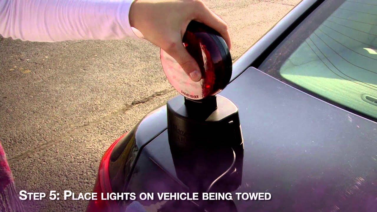 Blazer C6304 Wireless Magnetic Tow Light Installation on