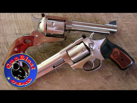 "Ruger Blackhawk ""Flattop"" 357/9mm Convertible and SP101 327 Federal Magnum - Gunblast.com"