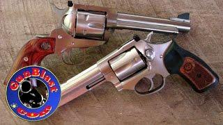 """Ruger Blackhawk """"Flattop"""" 357/9mm Convertible and SP101 327 Federal Magnum - Gunblast.com thumbnail"""