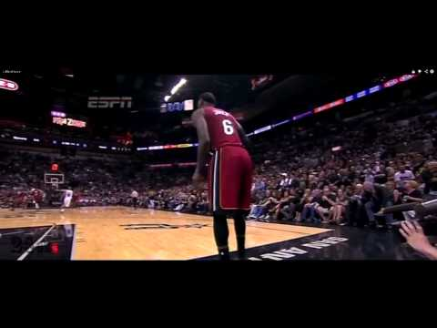 Leg cramps render LeBron James useless