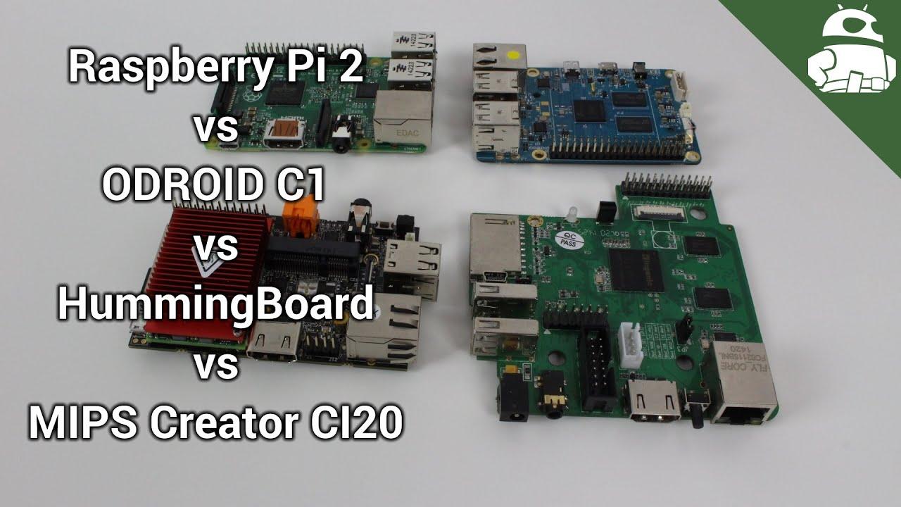 Showdown: Pi 2 vs ODROID C1 vs HummingBoard vs MIPS CI20