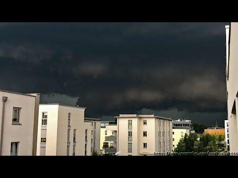 Katastrophales Unwetter München-Freiham 10.06.2019