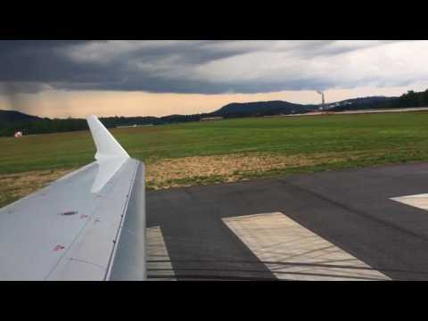 Asheville Regional Airport Crj-700 takeoff to Charlotte