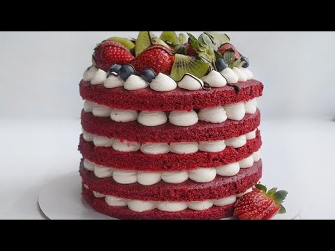 рецепт торта КРАСНЫЙ БАРХАТ, RED VELVET cake /// YBT - YouTube
