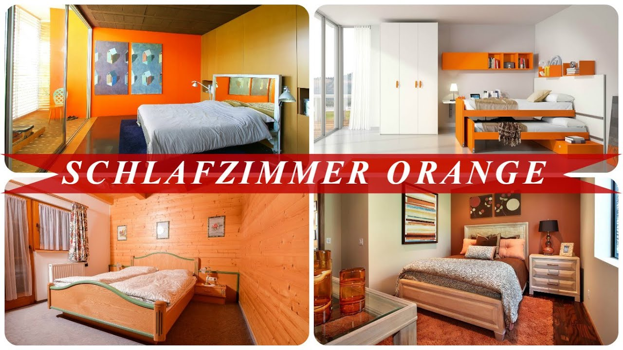 Schlafzimmer orange - YouTube