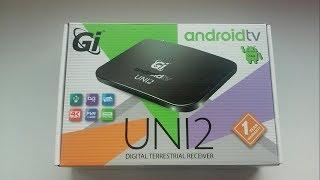Обзор приставки ► GI UNI 2 - DVB-T/T2/C, Android TV