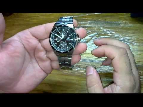 Часы CASIO edifice ef - 340 sb-1a1 обзор