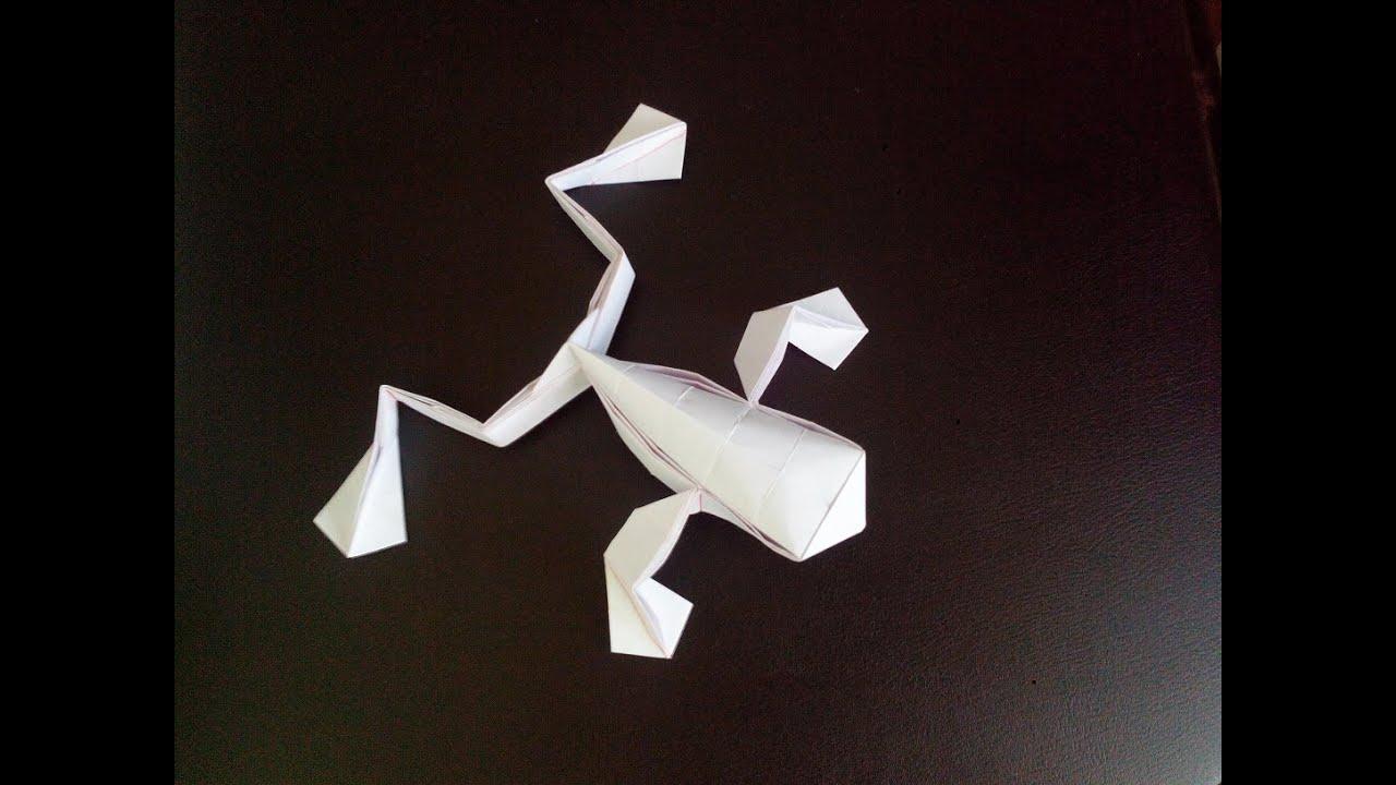 Лягушка оригами, origami frog (Toshikazu Kawasaki)