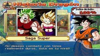 Dragon Ball Z Budokai Tenkaichi 4 - Modo historia - Goku SSJ Blue VS Caulifla SSJ2 y Kale Berserker