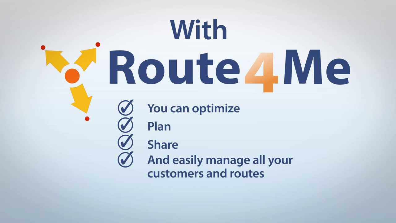 route4me business route planner youtube