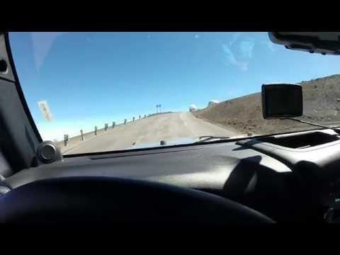 Driving up the summit of Mauna Kea
