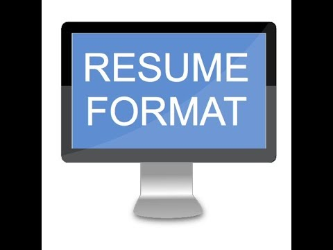 RESUME FORMAT - Apps on Google Play