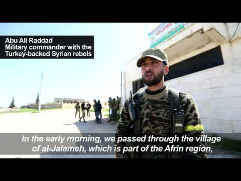Turkish-backed rebels advance on Syrian town