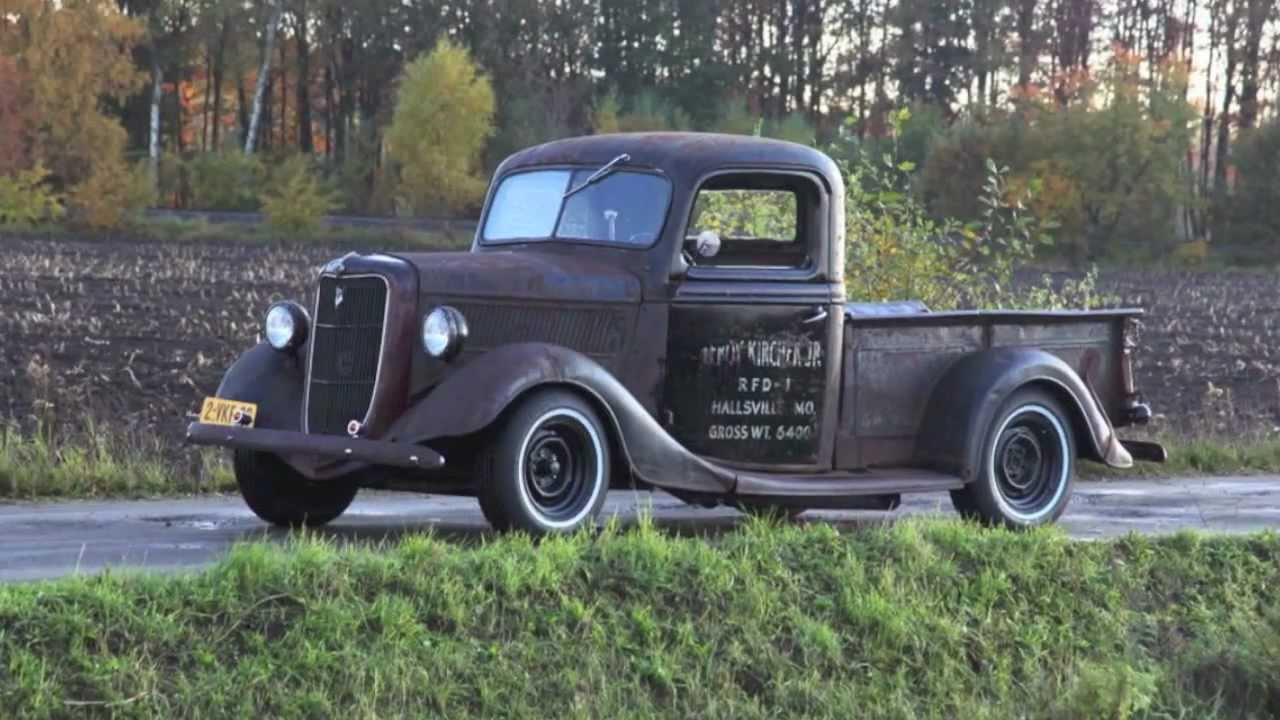 1937 Ford pickup - Rat Rod - YouTube