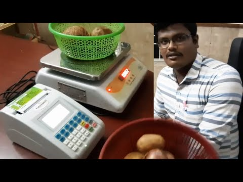 Billing Machine with Weighing Scale for Vegetable , Fruits , Fish & Mutton Shops
