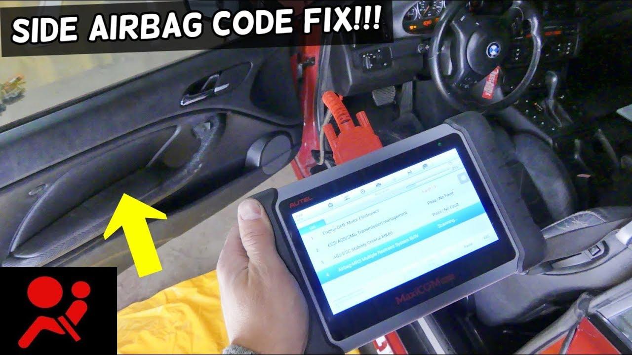 bmw e46 side airbag code fix youtube. Black Bedroom Furniture Sets. Home Design Ideas