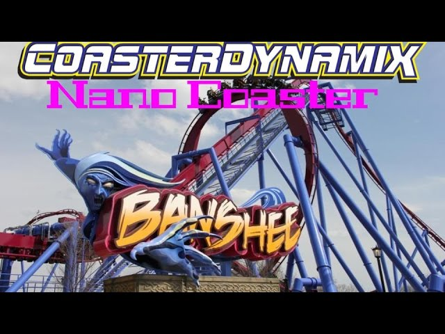 BANSHEE Kings Island Cedar Fair CoasterDynamix Nanocoaster Model