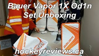 Bauer Vapor 1X Od1n Goalie Pad and Glove Set Unboxing