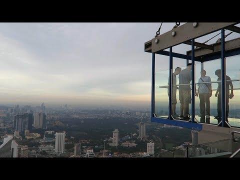Kuala Lumpur Tower and Glass Box (KL Menara Tower glass floor)