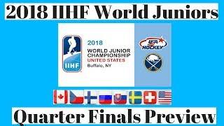 2018 World Juniors QuarterFinals Preview
