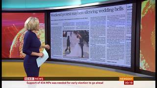 Weddings postponed as protests continue in Hong Kong - BBC News - 29th October 2019