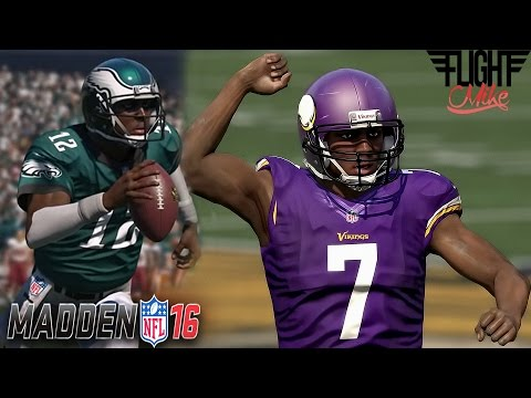 RANDALL CUNNINGHAM FACES HIS FORMER SELF! EAGLES VS VIKINGS! -MADDEN 16 ULTIMATE TEAM GAMEPLAY #33