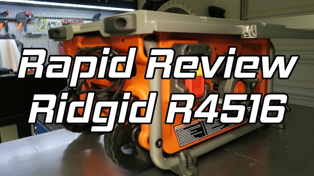 Ridgid Table Saw R4516