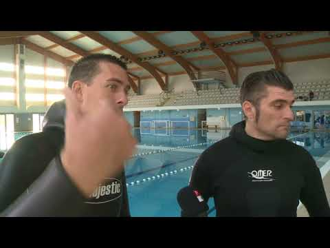 Branko Petrovic diving club Calypso new world record in static apnea CMAS 10:44