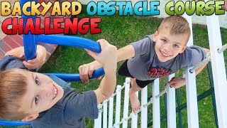 Twins Ultimate Backyard Obstacle Course Challenge