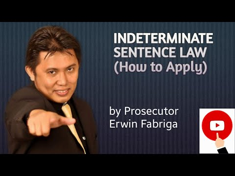 Indeterminate Sentence Law (Act No. 4103, as amended)
