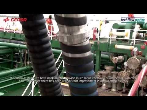Techflow Marine & CEPSA - Quay Reel System - Efficient Simultaneous Tanker Loading