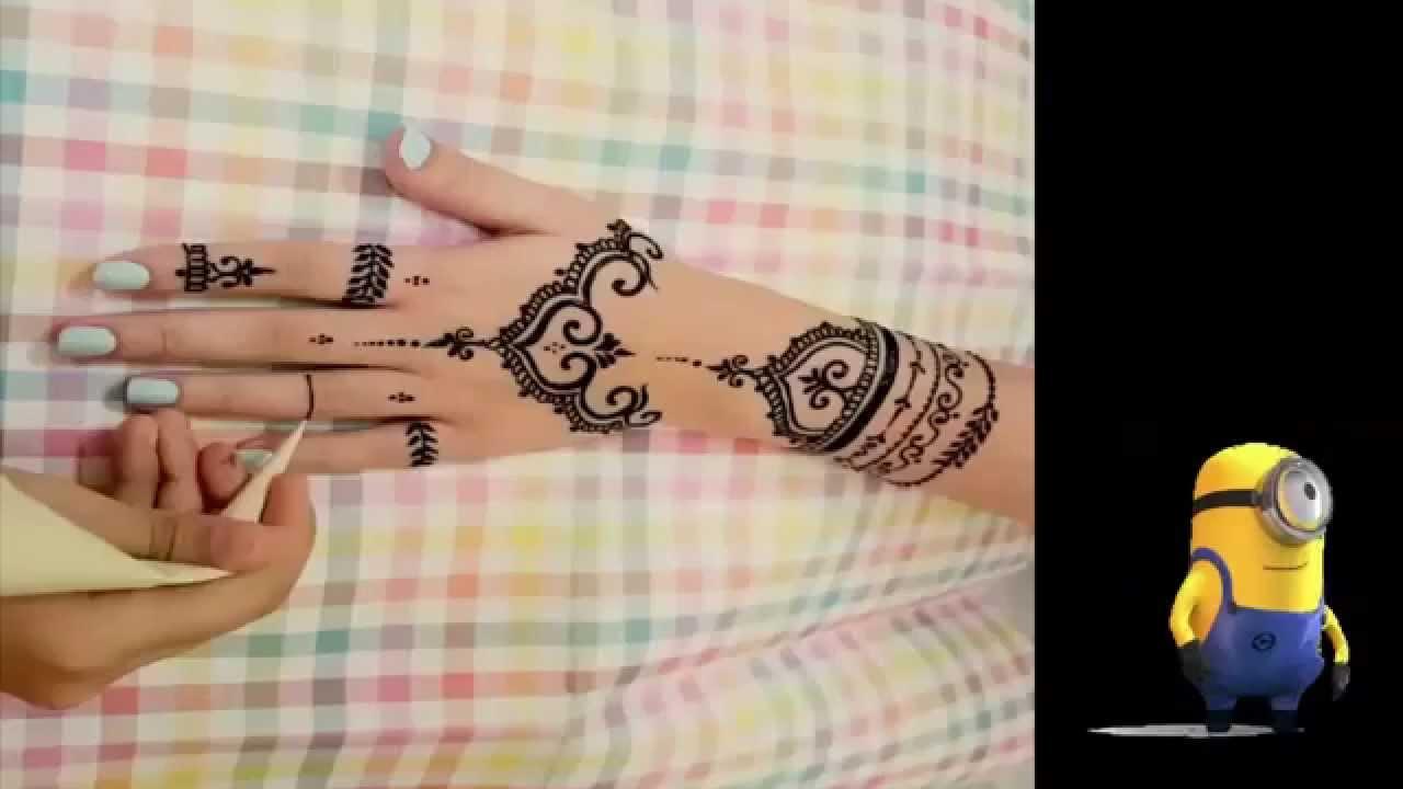 Tutorial Henna Design Henna Tangan 1 YouTube