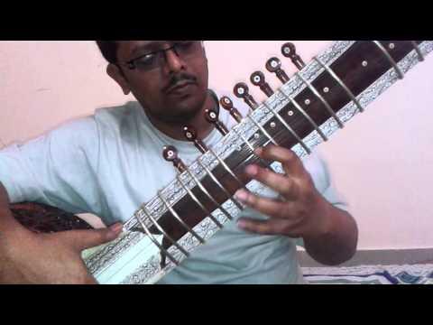 Prano Bhoriye Trisha Horiye... On Sitar