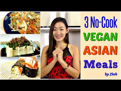 3 No-Cook Vegan Asian Meals (Breakfast, Lunch, Dinner)