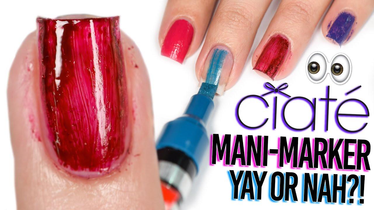 Ciate Mani Markers Polish REVIEW - I feel dead inside - YouTube