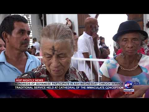 HUNDREDS OF GUYANESE PARTICIPATE IN ASH WEDNESDAY CHRUCH SERVICE