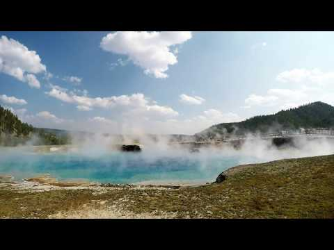 Visiting Grand Prismatic Spring & Excelsior Geyser, Midway Basin, Yellowstone
