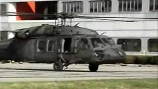 UH-60 Blackhawks , SH-60 Seahawks and CH-47 Chinook Startup and Takeoff