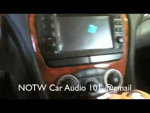 2004 Mercedes SL500 with aftermarket radio