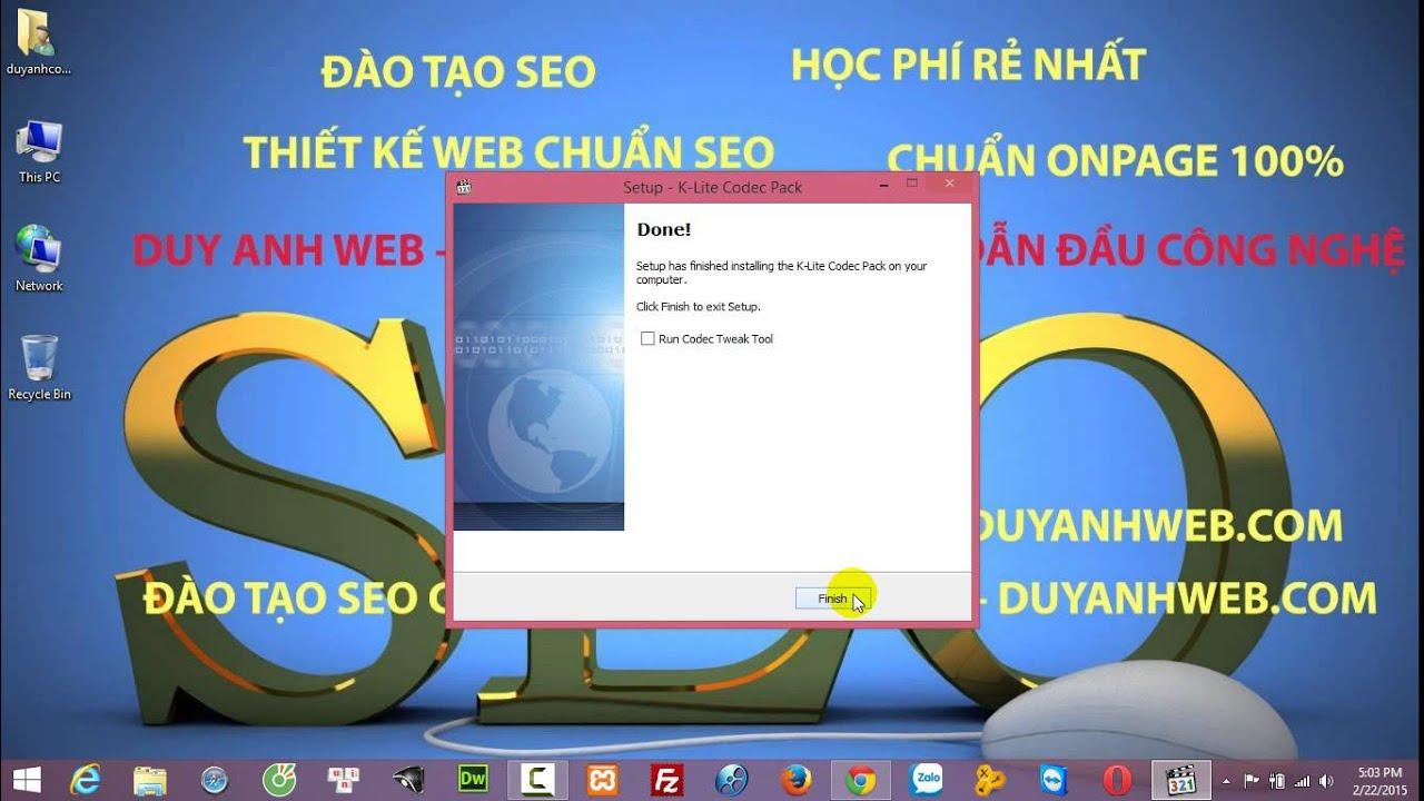 Hướng dẫn cài đặt K Lite Codec Pack – DUY ANH WEB