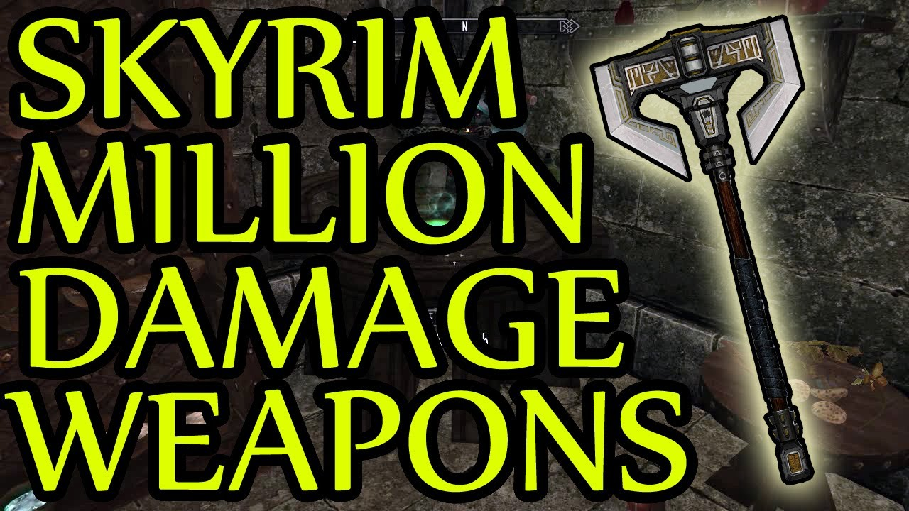 Skyrim GLITCH Million damage weapons Health for 360 PS3 PC