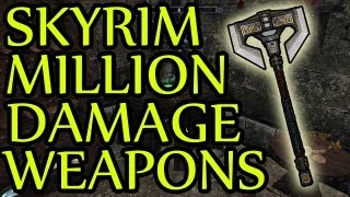 Skyrim GLITCH Million damage weapons + Health for 360/PS3/PC