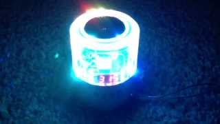 Smart Entertainment Crystal MP3 Speaker with Flashing LED Colors (S015 - crystal)