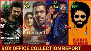 Box office Collection of Bharat,De de Pyaar de, Saaho Movie, Kabir Singh, Avengers endgame,